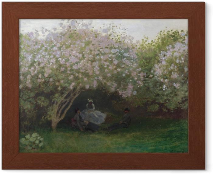 Póster Enmarcado Claude Monet - Lilas, tiempo gris - Reproducciones