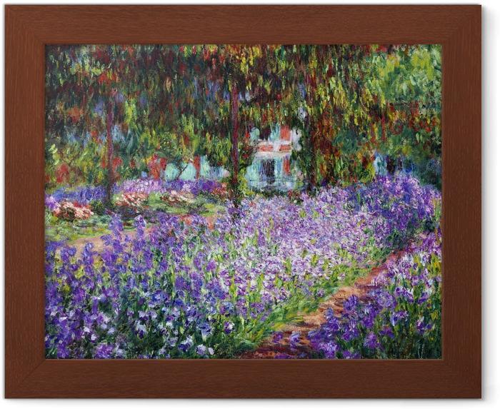 Póster Enmarcado Claude Monet - El jardín del artista en Giverny - Reproducciones