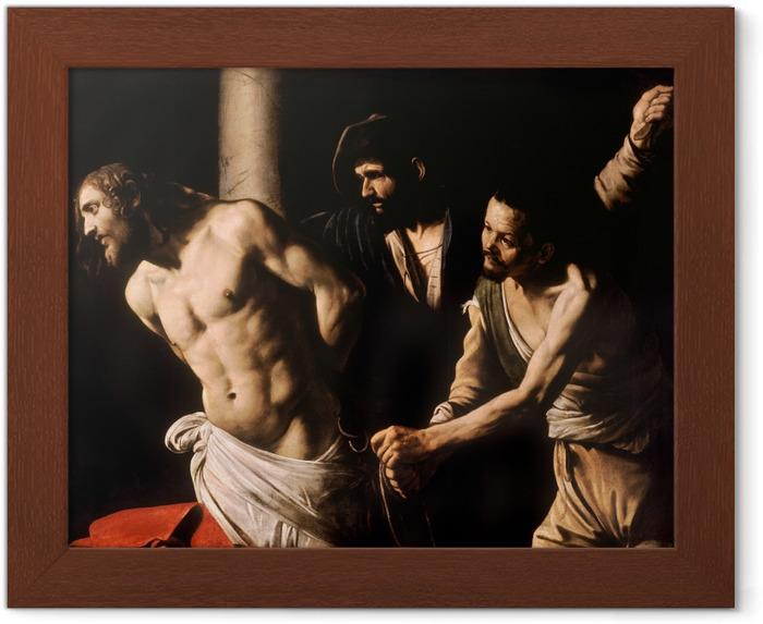 Póster Enmarcado Caravaggio - Flagelación de Cristo - Reproductions