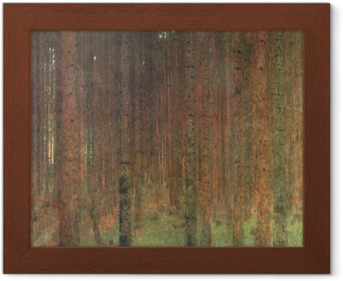 Plakat w ramie Gustav Klimt - Las sosnowy - Reprodukcje