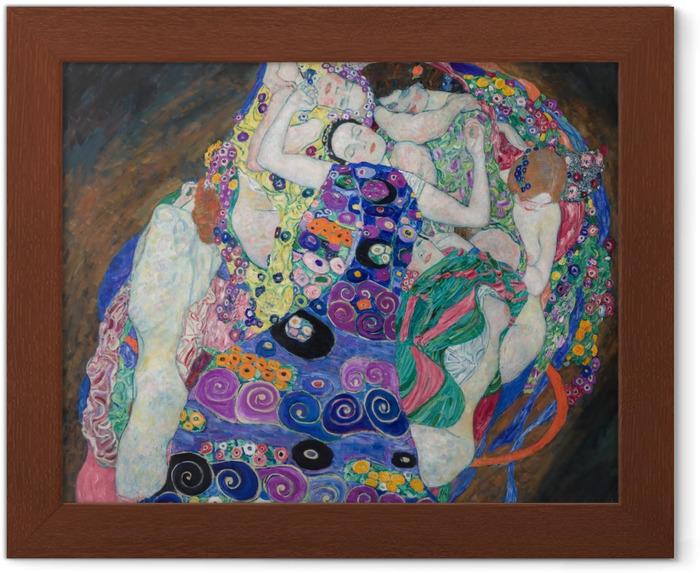 Póster Enmarcado Gustav Klimt - La doncella - Reproducciones