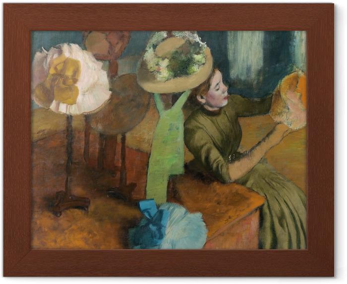 Póster Enmarcado Edgar Degas - Tienda de sombreros - Reproducciones
