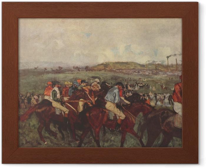 Póster Enmarcado Edgar Degas - Las carreras de caballos - Reproducciones