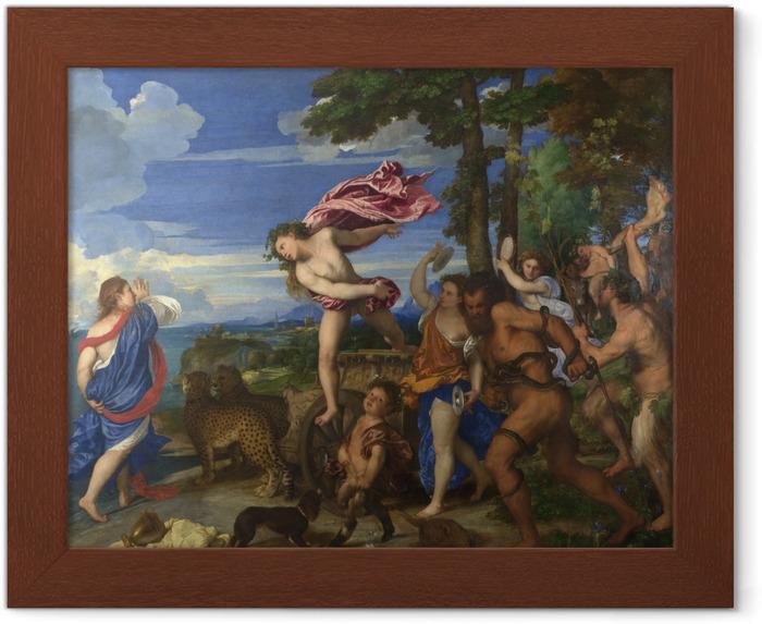 Póster Enmarcado Tiziano - Baco y Ariadna - Reproducciones