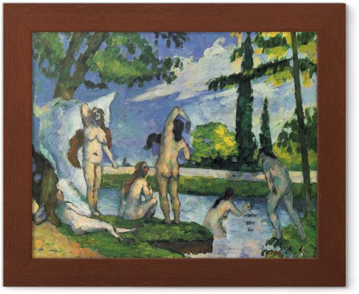 Plakat w ramie Paul Cézanne - Kąpiące się - studium - Reprodukcje