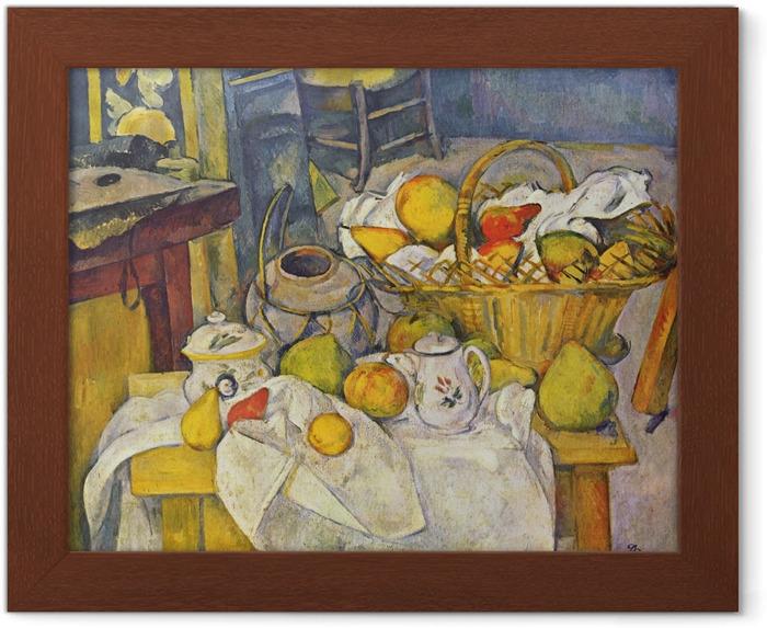 Poster En Cadre Paul Cezanne La Table De Cuisine Pixers
