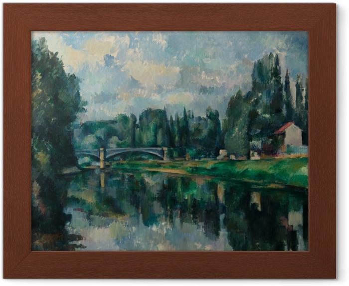 Póster Enmarcado Paul Cézanne - Los bancos del Marne en Creteil - Reproducciones