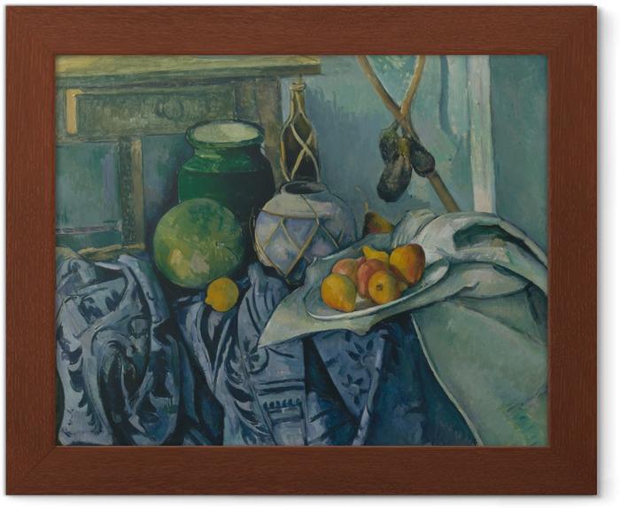 Póster Enmarcado Paul Cézanne - Todavía vida con la jarra y las berenjenas - Reproducciones