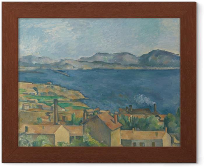 Gerahmtes Poster Paul Cézanne - Die Bucht von Marseille, von L'Estaque aus gesehen - Reproduktion