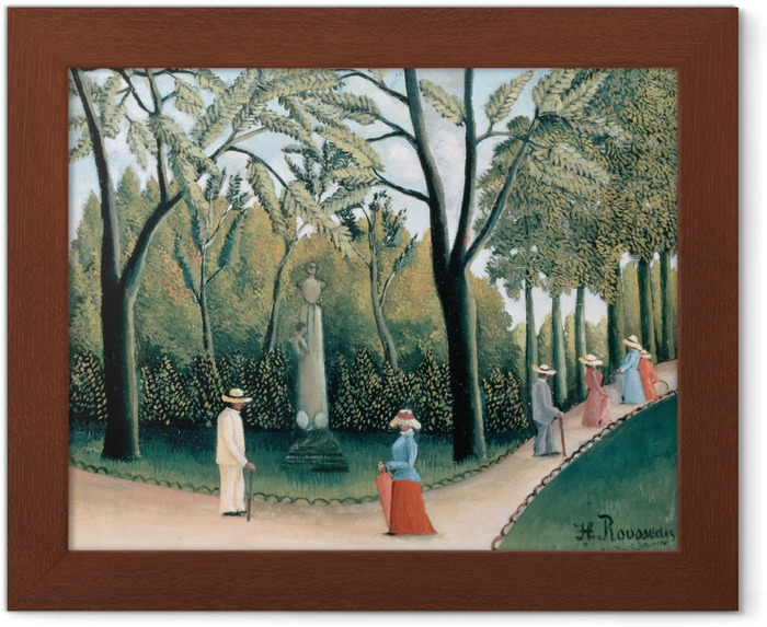 Poster en cadre Henri Rousseau - Le Monument de Chopin dans les jardins du Luxembourg - Reproductions