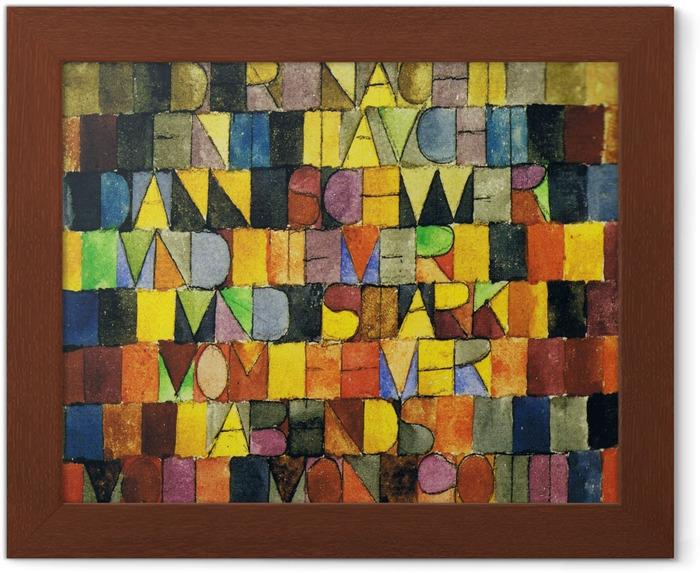 Póster Enmarcado Paul Klee - Una vez que surgió de la gris de la Noche - Reproducciones