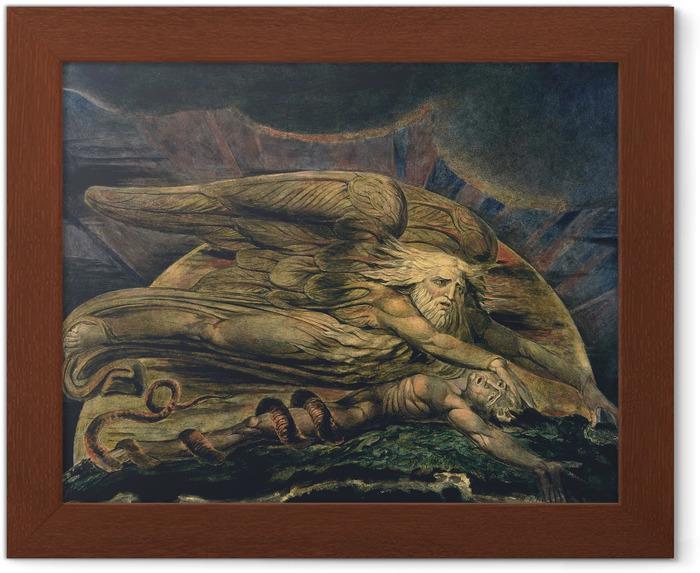 Poster en cadre William Blake - Elohim créant Adam - Reproductions