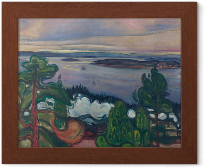 Plakat w ramie Edvard Munch - Dym pociągu - Reprodukcje