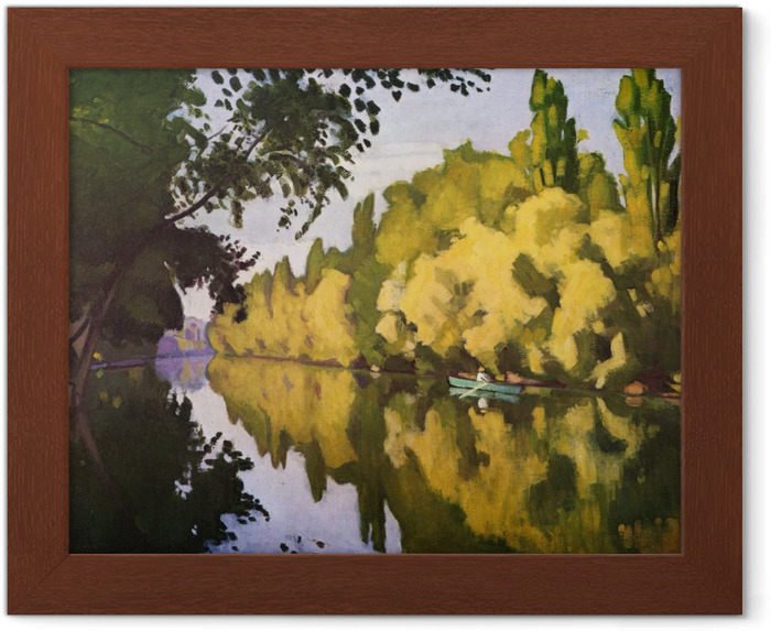Albert Marquet - La Varenne Saint-Hilaire - Bir Tekne Indrammet plakat - Reproductions