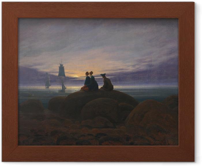 Poster en cadre Caspar David Friedrich - Lever de la lune sur la mer II - Reproductions