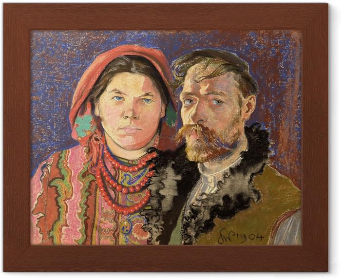 Póster Enmarcado Stanisław Wyspiański - Autorretrato del artista y su mujer - Reproductions