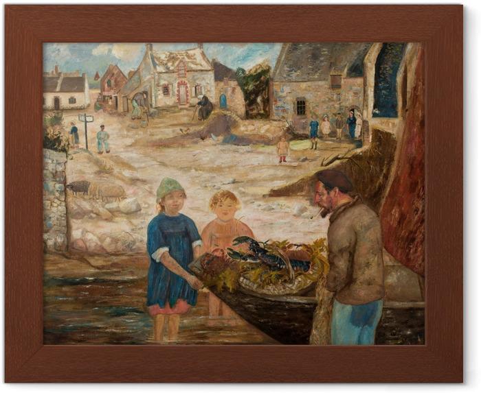 Póster Enmarcado Tadeusz Makowski - Regresando de pescar cangrejos - Reproductions