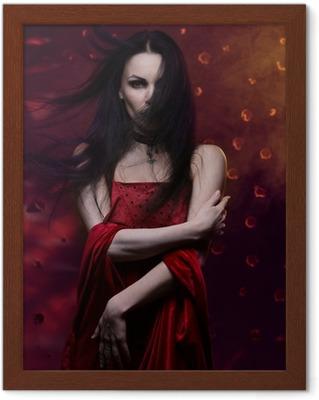 Canvastavla Vacker vampyr kvinna i röd klänning • Pixers® - Vi lever för  förändring 9b1eaf2233a81