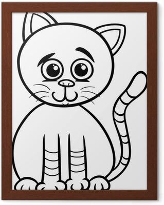 Sevimli Kedi Karikatür Boyama Poster Pixers Haydi Dünyanızı