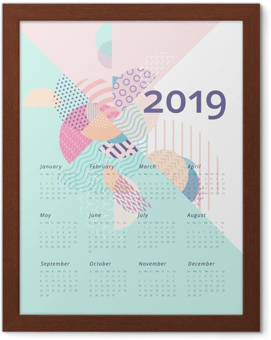 Plakat w ramie Kalendarz 2019 - Geometria - Kalendarze 2018