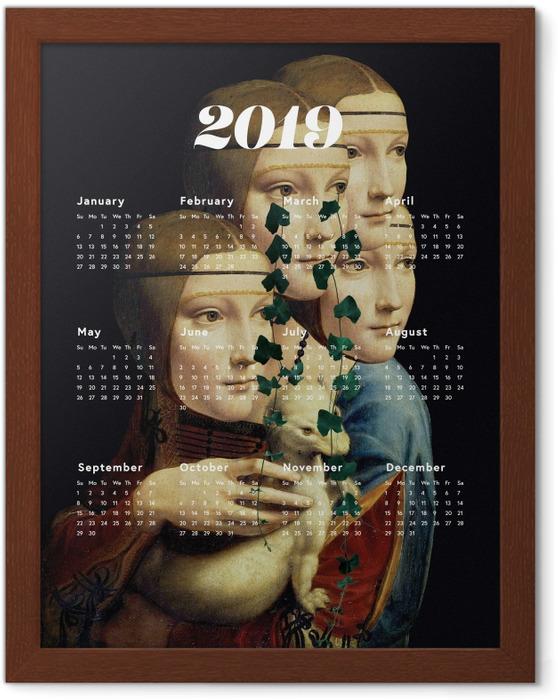 Poster en cadre Kalendarz 2019 - les femmes et l'art -