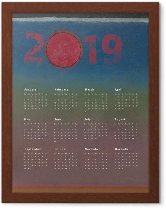 Çerçeveli Poster Takvim 2019 - suluboya -