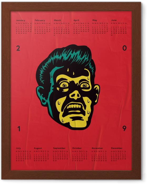Innrammet plakat Kalender 2019 – Frykt -