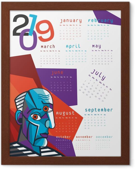 Plakat w ramie Kalendarz 2019 – Kubizm - Kalendarze 2018