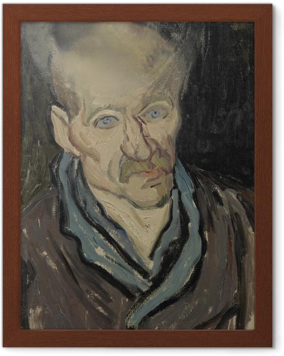 Póster Enmarcado Vincent van Gogh - Retrato de un paciente en el hospital de Saint-Paul - Reproductions