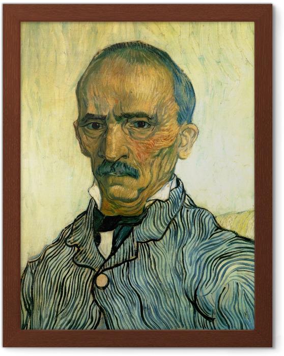 Póster Enmarcado Vincent van Gogh - Retrato del inspector del hospital Pablo - Reproductions