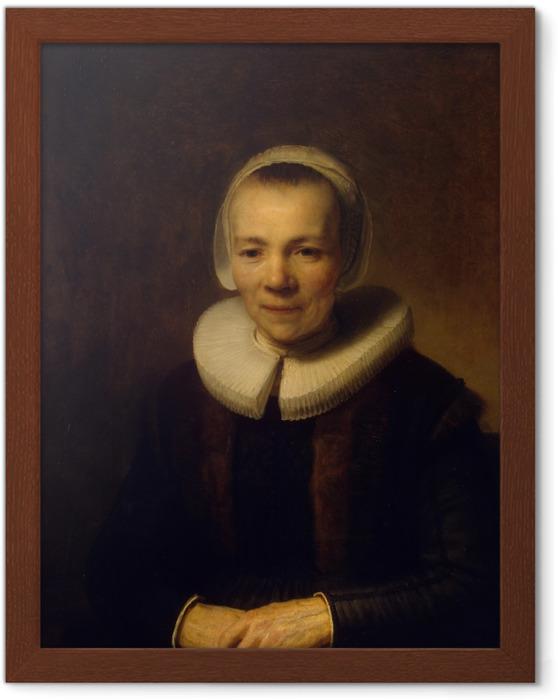 Ingelijste Poster Rembrandt van Rijn - Portret van Baertje Martens - Reproducties