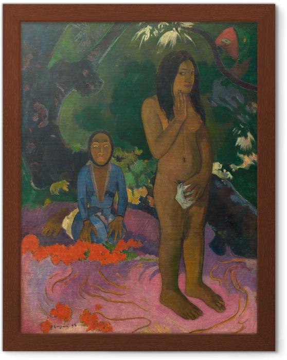 Póster Enmarcado Paul Gauguin - Sin mahna Varua Ino (El Diablo Habla) - Reproducciones