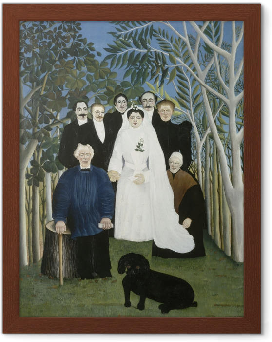 Plakat w ramie Henri Rousseau - Wesele - Reprodukcje