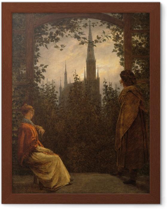 Póster Enmarcado Caspar David Friedrich - Mirador en Greifswald - Reproductions