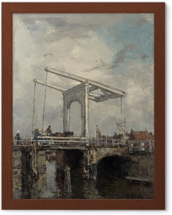 Poster en cadre Jacob Maris - Un pont-levis dans une ville hollandaise - Reproductions