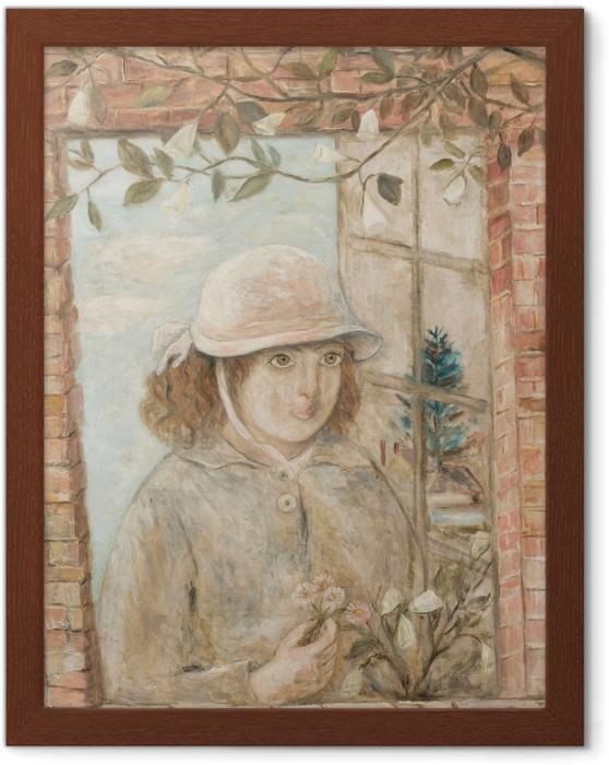Ingelijste Poster Tadeusz Makowski - Květované okno - Reproductions