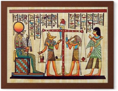 Poster en cadre Egypte papyrus