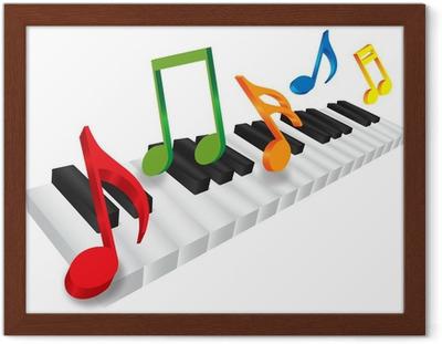 Veggklistremerke Piano tastatur • Pixers® Vi lever for