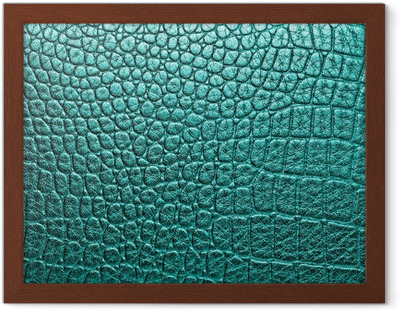 Crocodile leather, can use as background Framed Poster