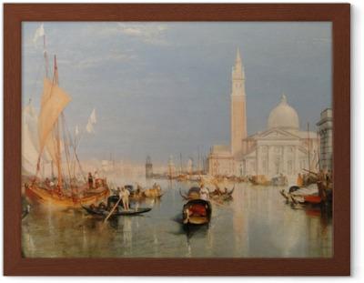 Poster en cadre William Turner - La Dogana - San Giorgio