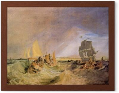 Ingelijste Poster William Turner - De scheepvaart aan de monding van de Theems