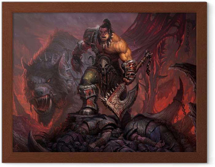 Póster Enmarcado World of Warcraft - Temas