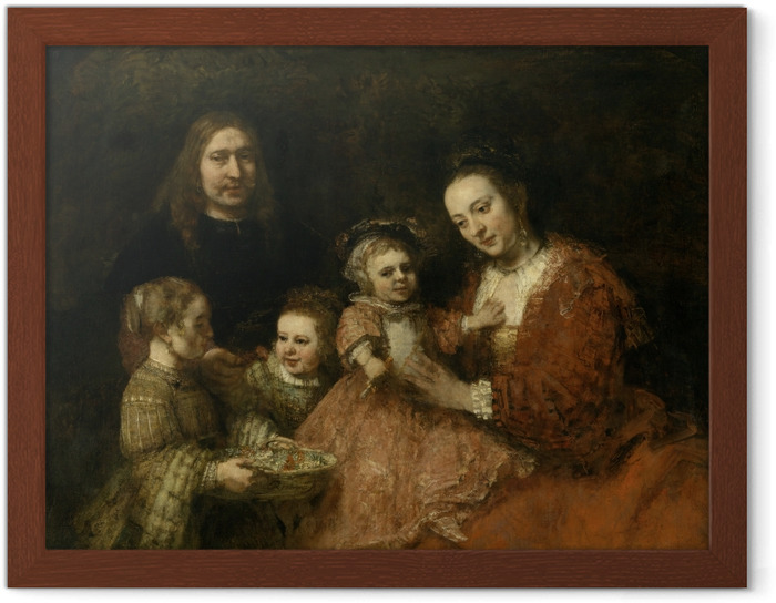 Poster en cadre Rembrandt - Portrait de famille - Reproductions