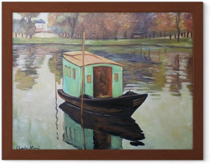 Póster Enmarcado Claude Monet - El estudio barco - Reproducciones