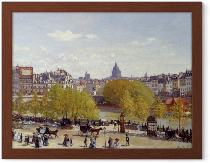 Gerahmtes Poster Claude Monet - Quai du Louvre - Reproduktion
