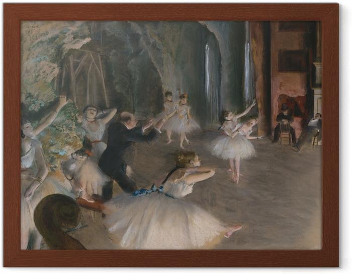 Póster Enmarcado Edgar Degas - Tratando de ballet en la etapa - Reproducciones