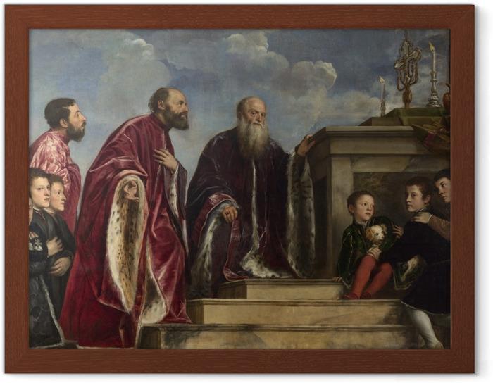 Póster Enmarcado Tiziano - La familia Vendramin - Reproducciones