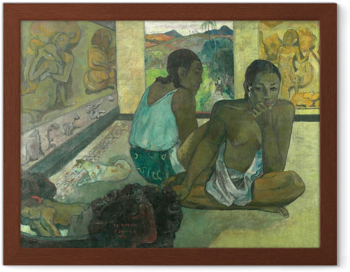 Ingelijste Poster Paul Gauguin - Te rerioa (De droom) - Reproducties