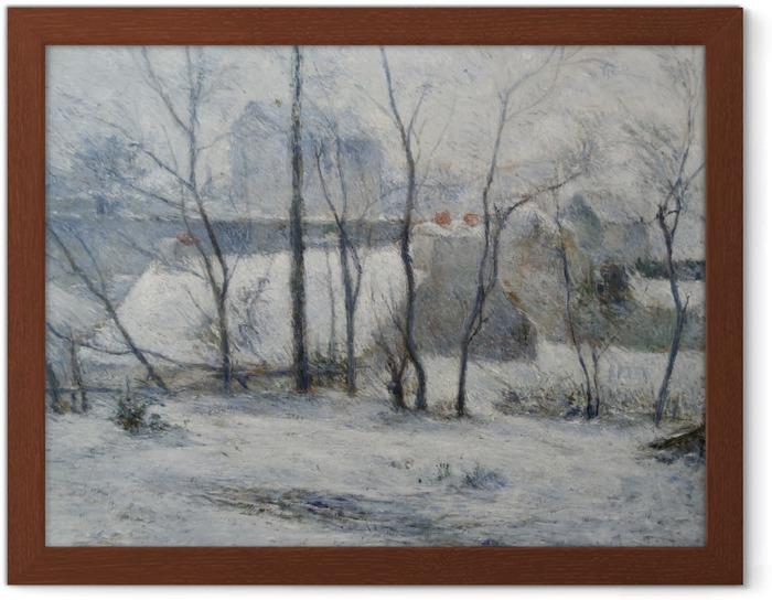 Plakat w ramie Paul Gauguin - Krajobraz zimowy - Reprodukcje