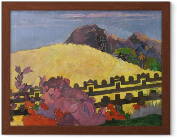 Plakat w ramie Paul Gauguin - Parahi te marae ( - Reprodukcje